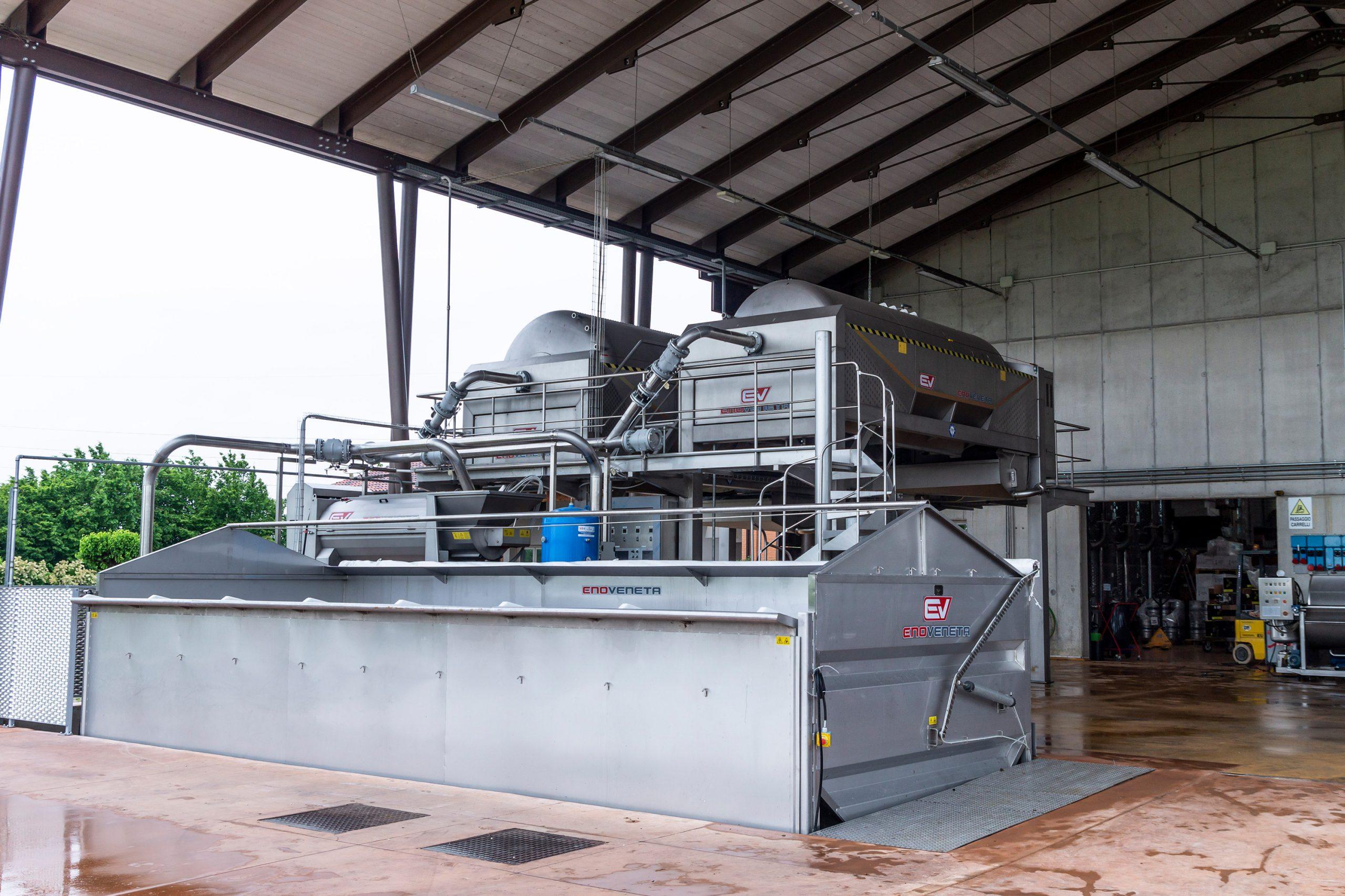 Ricezione e lavorazione delle uve: flessibilità, automazione e grande rispetto della materia prima